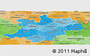 Political Shades Panoramic Map of Oberfranken