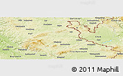 Physical Panoramic Map of Wunsiedel