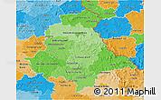 Political Shades 3D Map of Oberpfalz