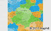 Political Shades Map of Oberpfalz