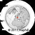 Outline Map of Oberpfalz