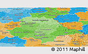 Political Shades Panoramic Map of Oberpfalz