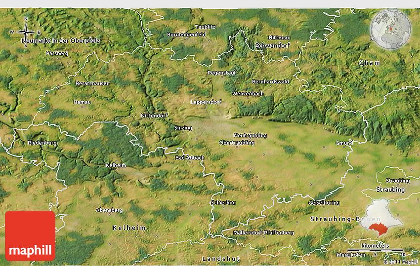 Satellite D Map Of Regensburg - Regensburg map