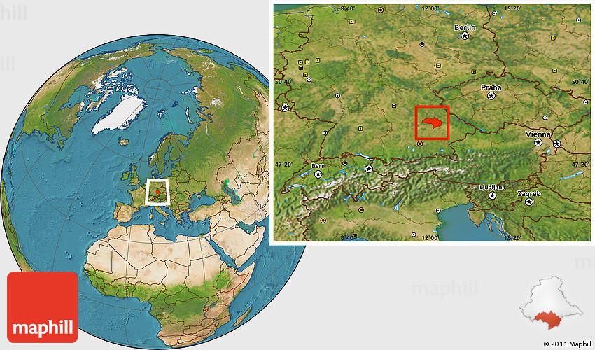 Satellite Location Map Of Regensburg - Regensburg map