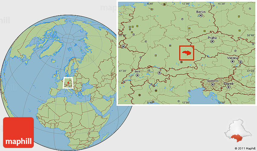 Savanna Style Location Map Of Regensburg - Regensburg map