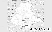 Silver Style Simple Map of Oberpfalz