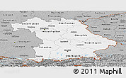 Gray Panoramic Map of Bayern