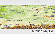 Physical Panoramic Map of Bayern