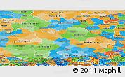 Political Panoramic Map of Bayern