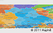 Political Shades Panoramic Map of Bayern