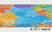 Political Shades Panoramic Map of Bayern