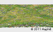 Satellite Panoramic Map of Bayern