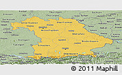 Savanna Style Panoramic Map of Bayern