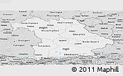 Silver Style Panoramic Map of Bayern