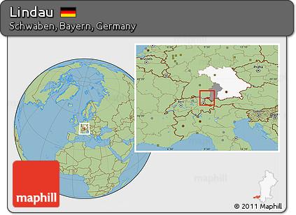 Lindau Germany Map.Free Savanna Style Location Map Of Lindau Highlighted Parent Region