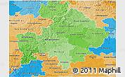 Political Shades 3D Map of Unterfranken