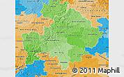 Political Shades Map of Unterfranken