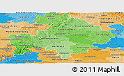 Political Shades Panoramic Map of Unterfranken