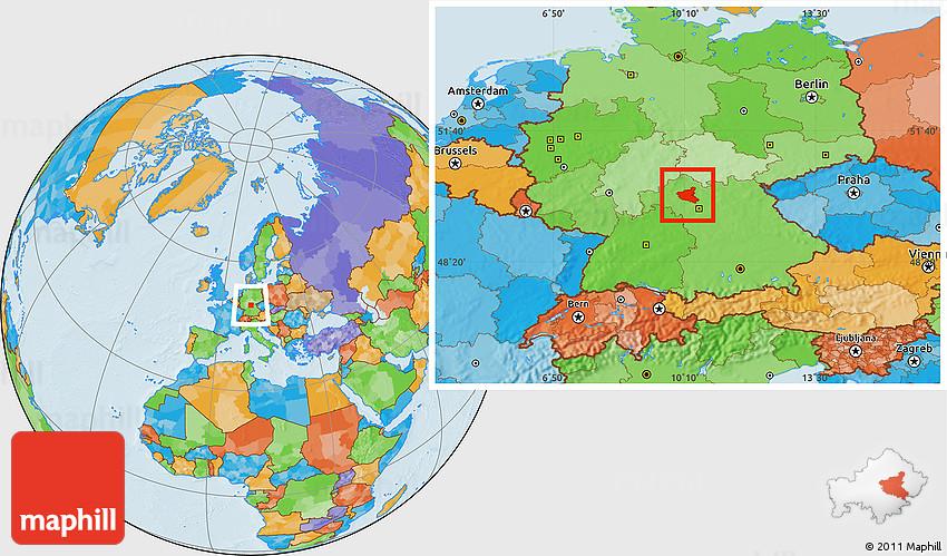 Political Location Map Of Schweinfurt