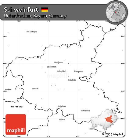 Free Blank Simple Map Of Schweinfurt