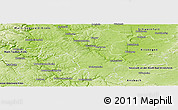 Physical Panoramic Map of Würzburg