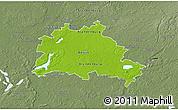 Physical 3D Map of Berlin, semi-desaturated