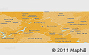 Political Shades Panoramic Map of Berlin