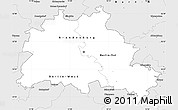 Silver Style Simple Map of Berlin