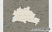 Shaded Relief Map of Berlin, darken
