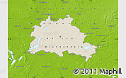 Shaded Relief Map of Berlin, physical outside