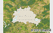 Shaded Relief Map of Berlin, satellite outside