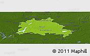 Physical Panoramic Map of Berlin, darken