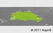Physical Panoramic Map of Berlin, desaturated