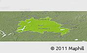 Physical Panoramic Map of Berlin, semi-desaturated