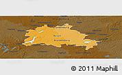 Political Panoramic Map of Berlin, darken