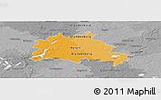 Political Panoramic Map of Berlin, desaturated