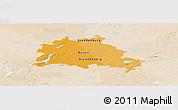 Political Panoramic Map of Berlin, lighten