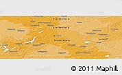 Political Panoramic Map of Berlin