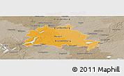 Political Panoramic Map of Berlin, semi-desaturated