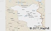 Classic Style 3D Map of Brandenburg
