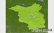 Physical 3D Map of Brandenburg, darken