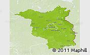 Physical 3D Map of Brandenburg, lighten