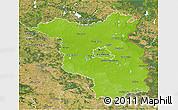 Physical 3D Map of Brandenburg, satellite outside