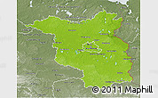 Physical 3D Map of Brandenburg, semi-desaturated