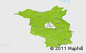 Physical 3D Map of Brandenburg, single color outside