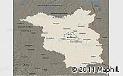 Shaded Relief 3D Map of Brandenburg, darken
