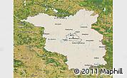 Shaded Relief 3D Map of Brandenburg, satellite outside