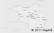 Silver Style 3D Map of Brandenburg, single color outside
