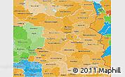 Political Shades 3D Map of Brandenburg