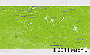 Physical Panoramic Map of Dahme-Spreewald